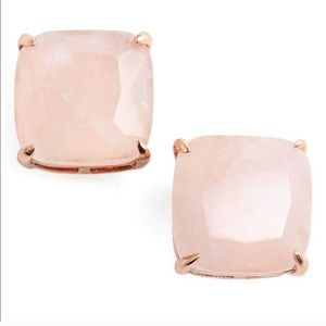Kate Spade Square Rose Quartz Earrings